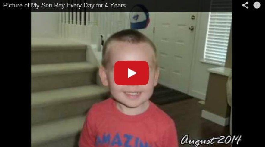 Tėvas ketverius metus kasdien filmavo savo vaiką kasdien.