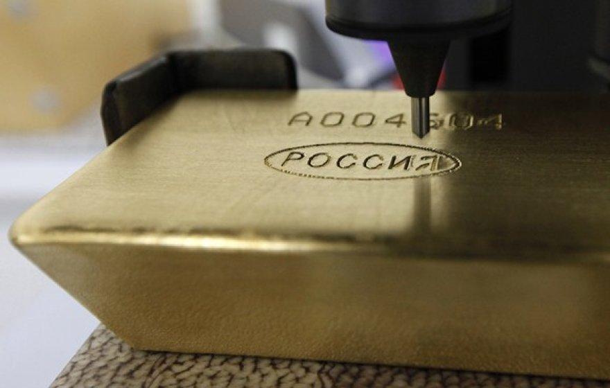 Graviruojamas aukso luitas