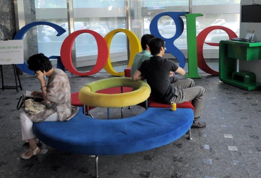 """Google"" biuro laukiamasis."