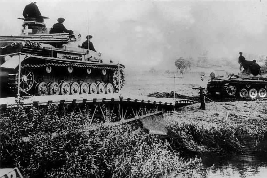 Vokiečių tankai Lenkijoje 1939 metų rugsėjį