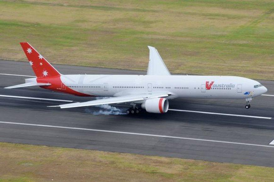 """Vienas iš """"Virgin Blue"""" lėktuvų"""