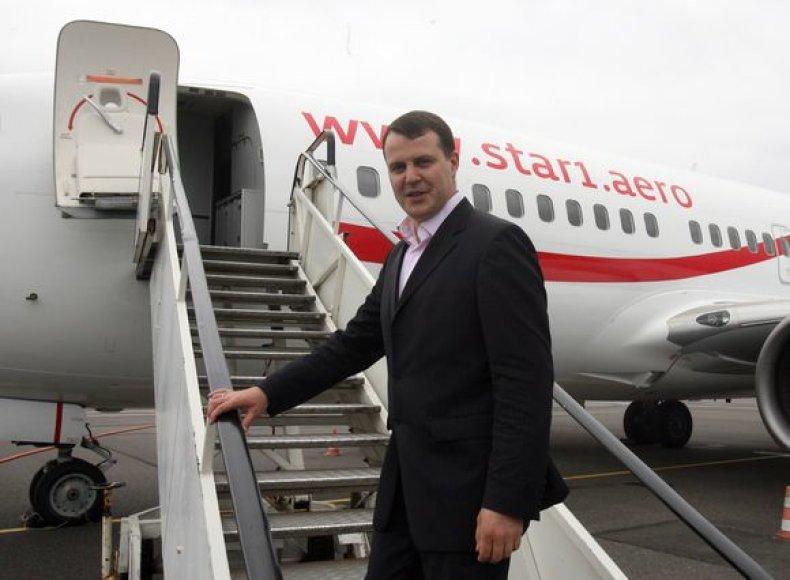 """""""Star1 Airlines""""  direktorius Martynas Laivys"""
