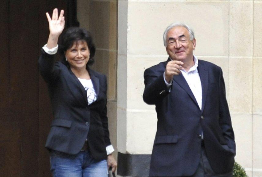 Anne Sinclair su vyru Dominique'u Straussu-Kahnu