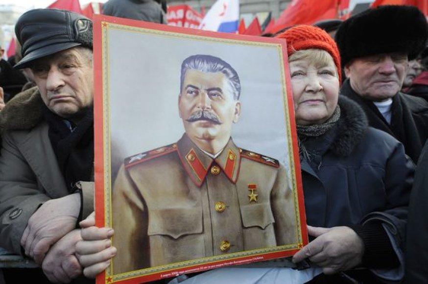Maskvoje iki šiol daug žmonių, kurie palaiko Stalino idėjas