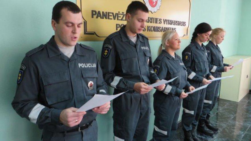 Nauji Panevėžio aps. VPK pareigūnai