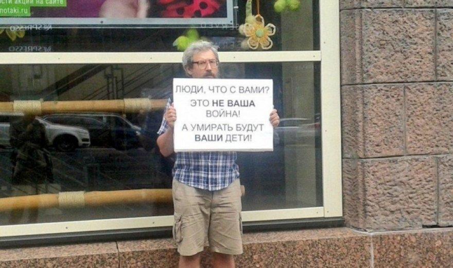 Piketas Rusijoje prieš karą Ukrainoje