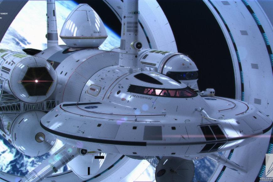 Ateities tarpgalakitnio erdvėlaivio konceptas