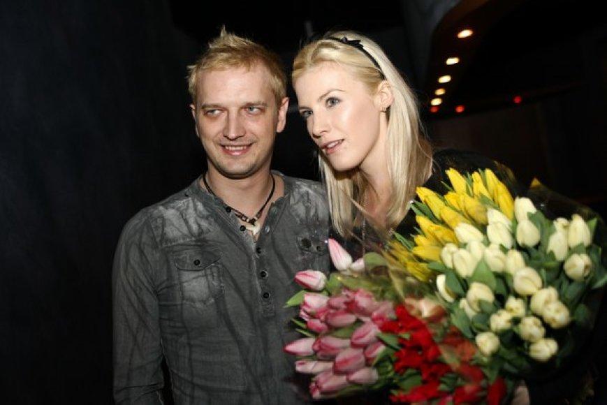 Ugnius Kiguolis su žmona Jurgita