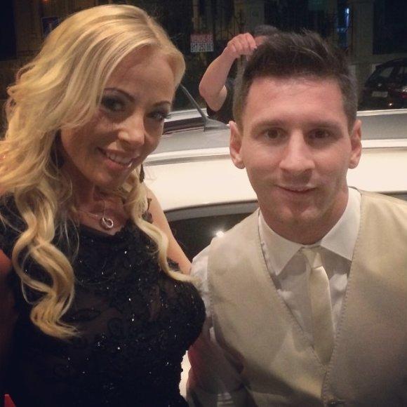 Vilija Pilibaitytė-Mia ir Lionelis Messi