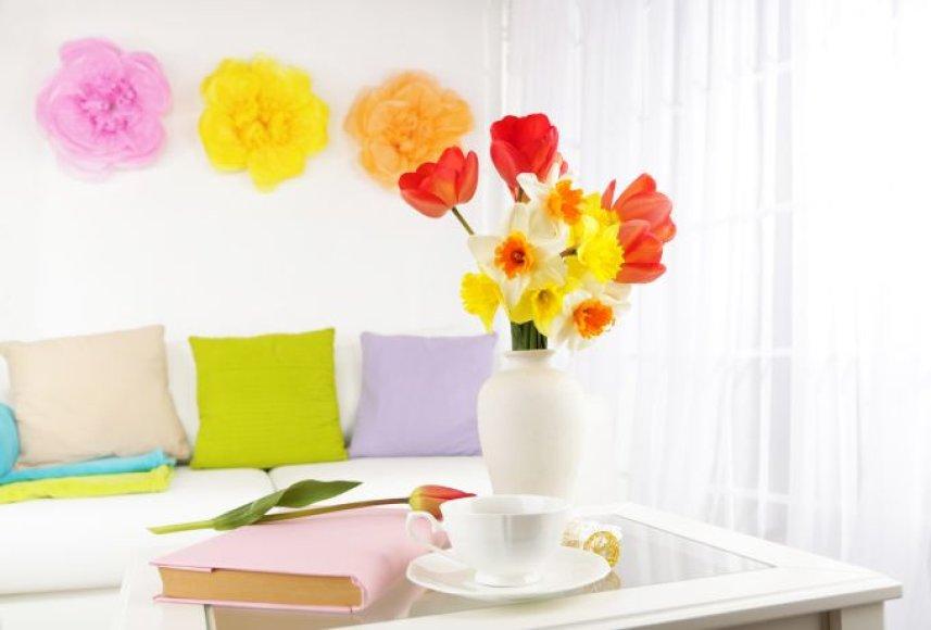 Gėlės interjere