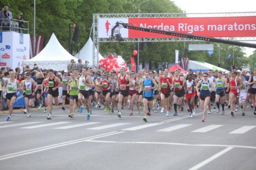 Rygos maratono akimirka