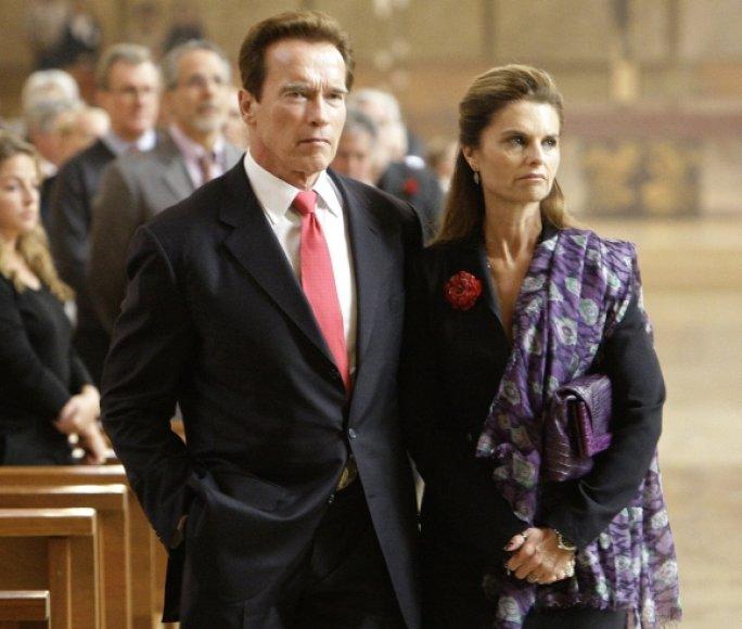 Arnoldas Schwarzeneggeris ir Maria Shriver
