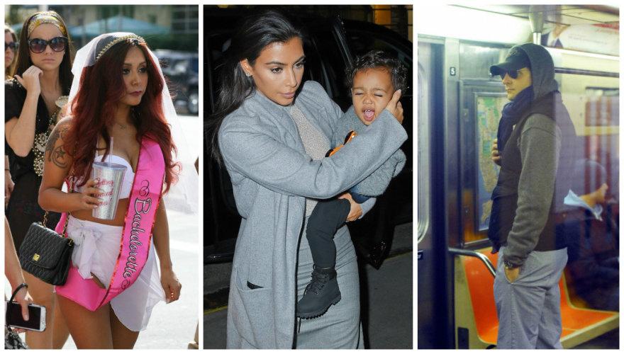 Nicole Polizzi-Snooki, Kim Kardashian su dukra North ir Bradley Cooperis