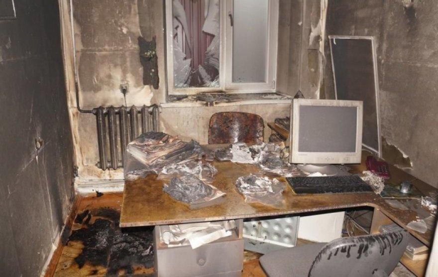 Donecko separatistai sudegino jiems neįtikusio laikraščio redakciją