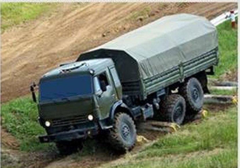 Ukrainos Gynybos ministerijos paskelbta sunkvežimio nuotrauka
