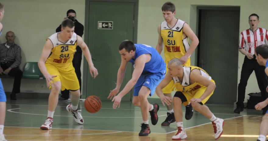 Šiaulių universiteto krepšininkai.
