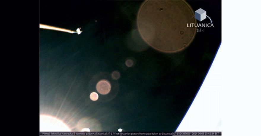 Pirmoji nuotrauka iš kosmoso