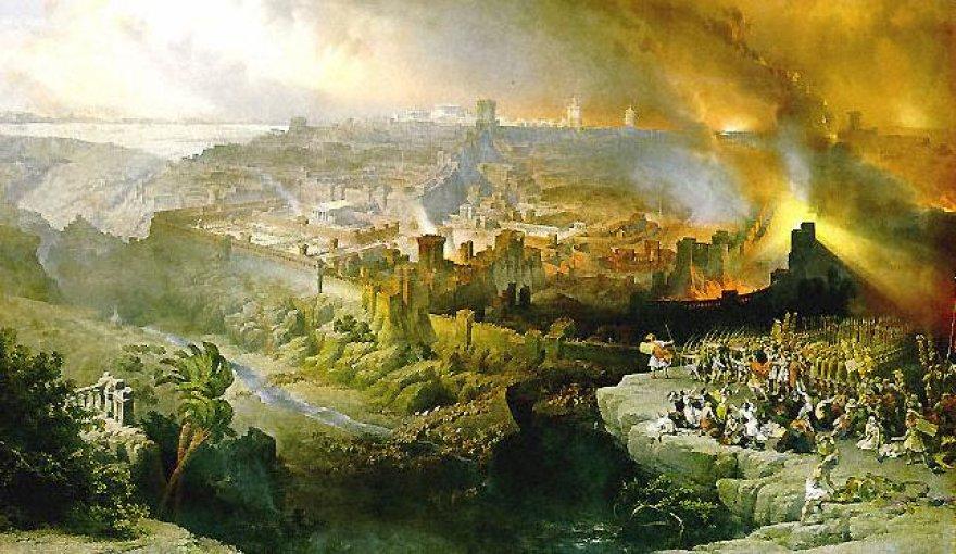 Davidas Robertsas. Romėnai sugriauna Jeruzalę