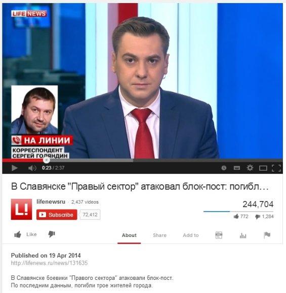 """""""Lifenews"""" reportažas internete pasirodė anksčiau nei jis įvyko"""