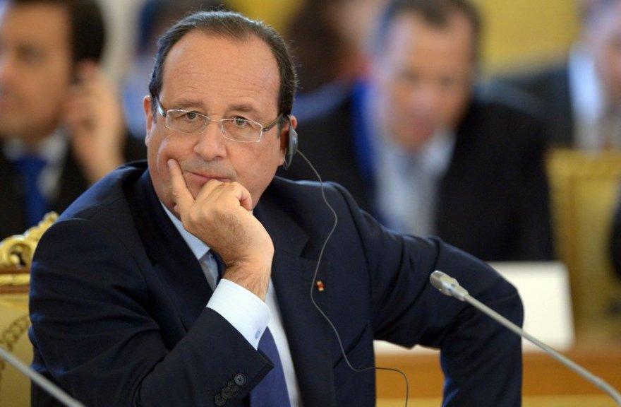 Prancūzijos prezidentas Francois Hollande'as