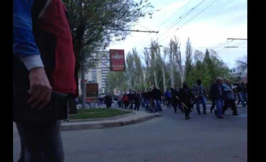 Donecke diversantai užpuolė patriotus