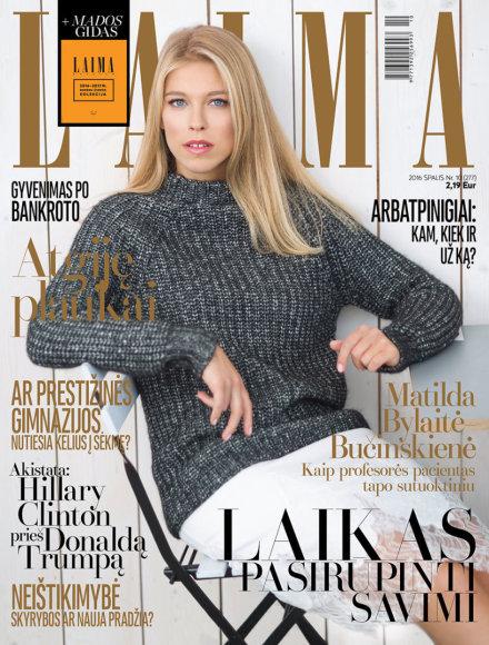 """Žurnalo """"Laima"""" spalio mėnesio viršelis"""