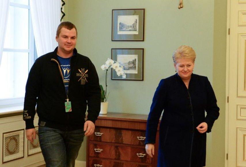 D.Grybauskaitė ir D.Bulatovas
