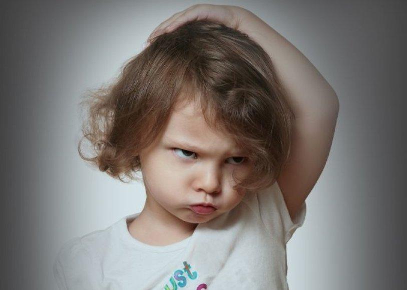 Pykstantis vaikas