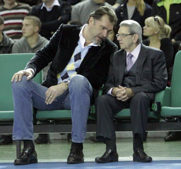 Vladas Garastas ir Arvydas Sabonis