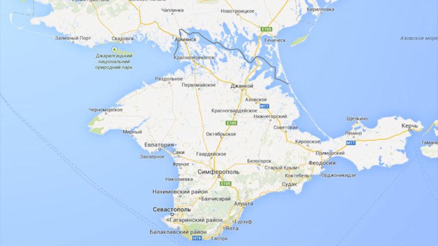 """""""Google"""" žymi Krymą kaip Rusijos dalį"""