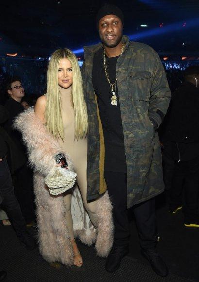 "AFP/""Scanpix"" nuotr./Khloe Kardashian ir Lamaras Odomas"