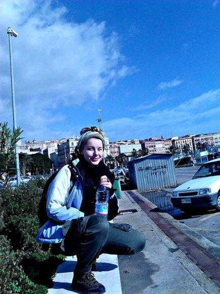 Autorė Sardinijoje