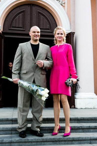 Gretos Skaraitienės/Žmonės.lt nuotr./Ramūnas Vyšniauskas su žmona Inese