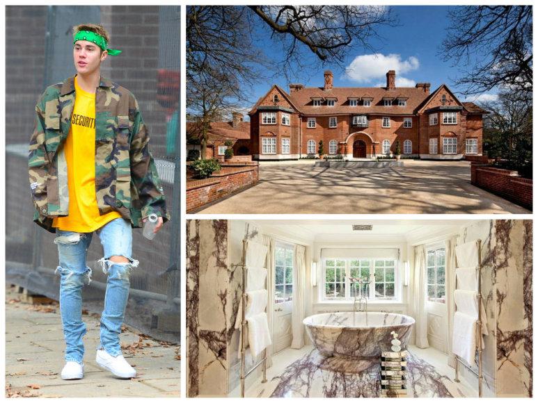 Į Londoną persikėlęs Justinas Bieberis išsinuomojo dvarą su 15 miegamųjų