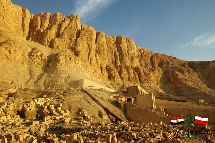 Lenkijos archeologai dirba Egipte, Deir el-Bahri