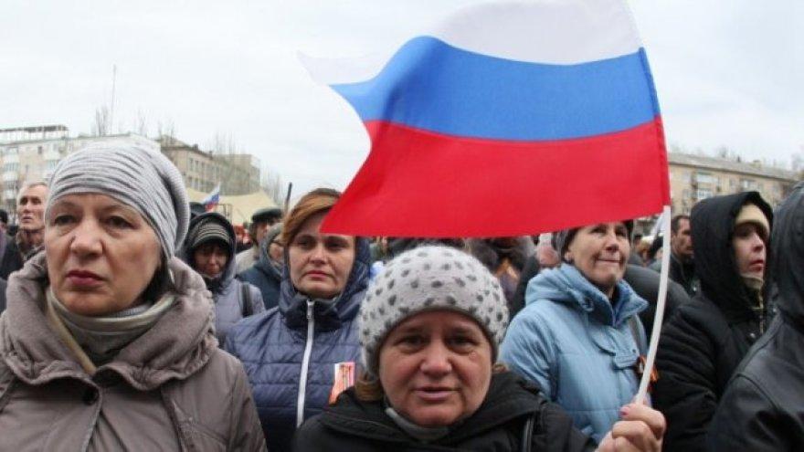 Prorusiški protestuotojai Taline
