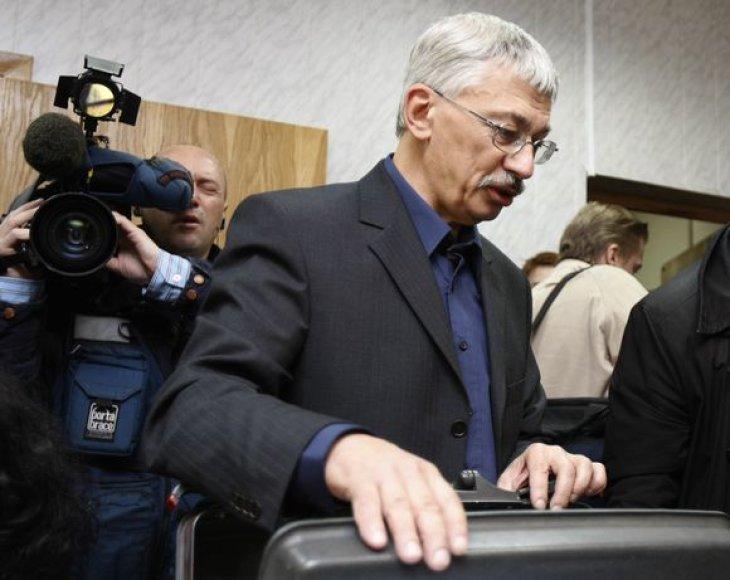 """Rusijojs Žmogaus teisių centro """"Memorial"""" vadovas Olegas Orlovas"""