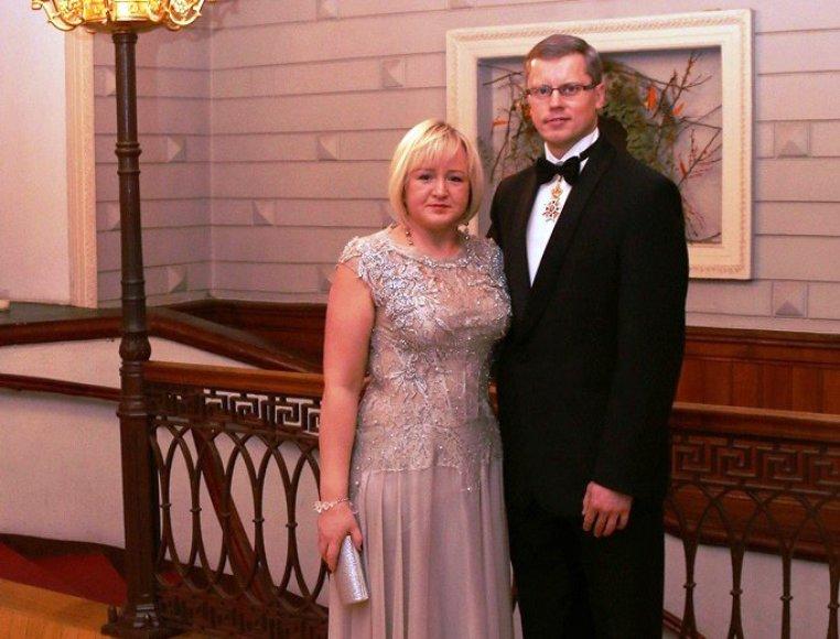 Kalėdinio labdaros vakaro šeimininkai – Andrius ir Jurgita Kupčinskai