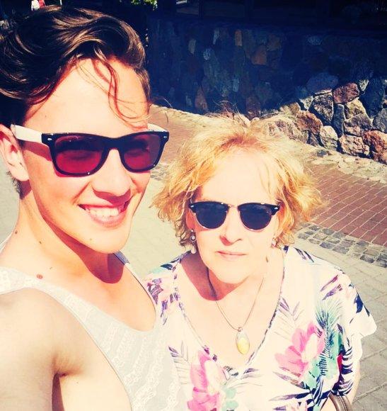 Martynas Levickis su mama Sofija