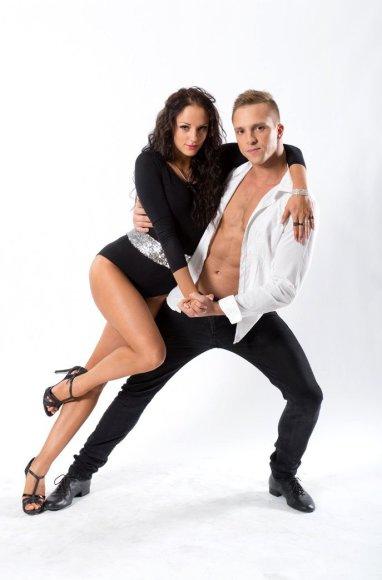 """""""Šok su manimi"""" dalyviai Ignas Barkauskas ir Jomantė Dapkevičiūtė"""