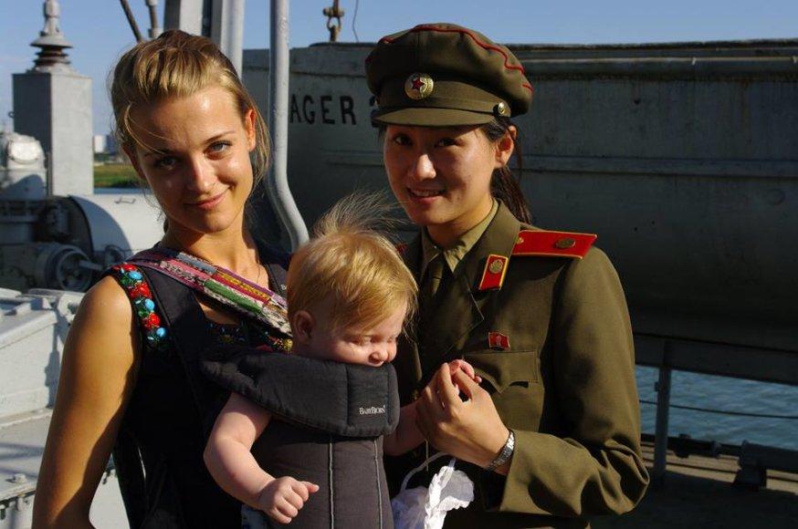 Milanos Jašinskytės kelionės po Šiaurės Korėją akimirka