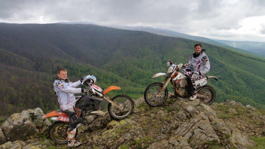 Motociklininkai Rumunijoje