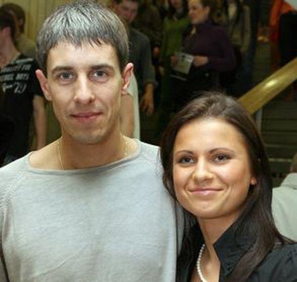 Mindaugas Lukauskis su žmona Jurga