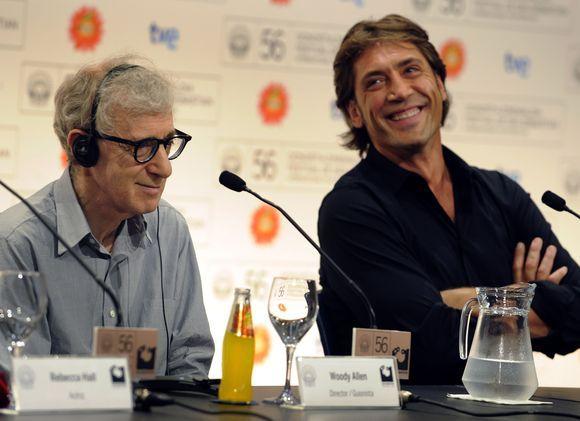 Režisierius Woody Allenas ir ispanų aktorius Javieras Bardemas