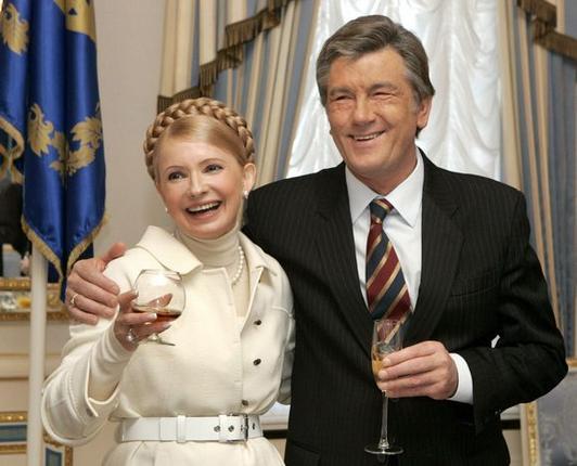 "AFP/""Scanpix"" nuotr./Tymošenko su Ukrainos prezidentu"