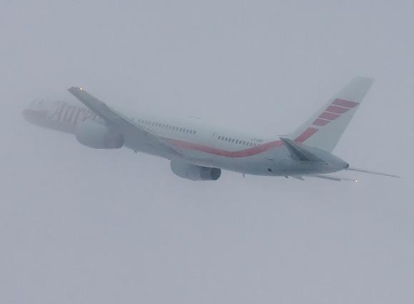 Lėktuvams pakilti rūkas netrukdo