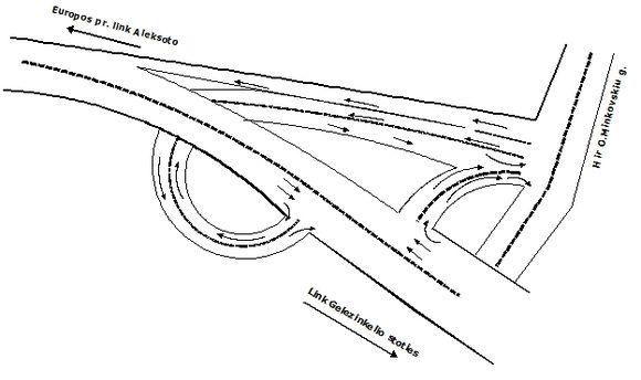 Atidarius M.K.Čiurlionio tiltą su Europos prospektu sujungusią estakadą pasikeis eismas.