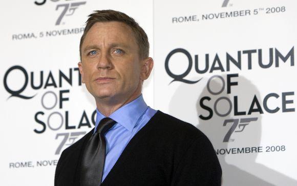 "Aktorius Danielis Craigas per filmo ""Paguodos Kvantas"" premjerą"
