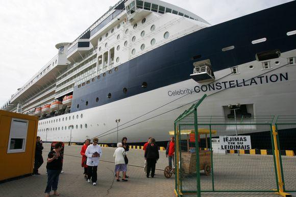 Šiemet kruizinių laivų turistų į Klaipėdą užsuko mažiau, nei užpernai.
