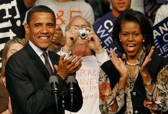 Barackas Obama su žmona Michelle